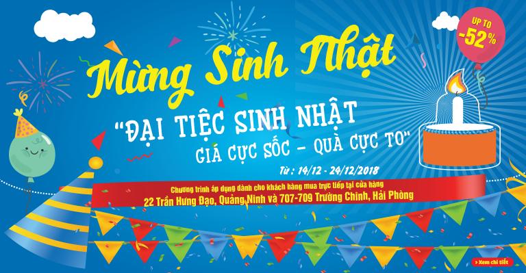Đại tiệc sinh nhật Quảng Ninh, Hải Phòng