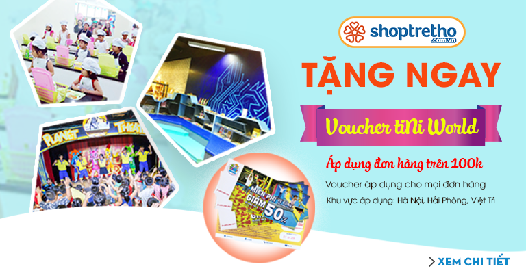 Tặng voucher Tiniworld