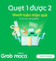 Grab Pay Moca tại ShopTreTho