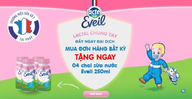 Tặng sữa Lactel Eveil cho đơn hàng bất kỳ