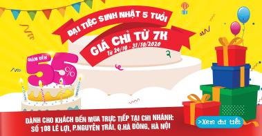 Đại tiệc sinh nhật 5 tuổi 108 Lê Lợi
