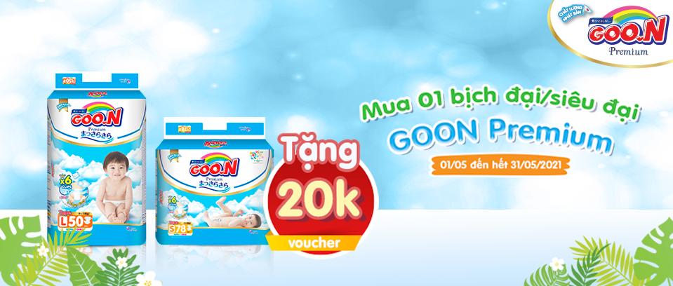 Goon Premium tặng voucher 20K