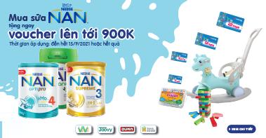 Mua sữa Nan tặng ngay voucher lên tới 900K