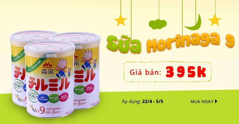Giảm 10% sữa bột Morinaga số 9