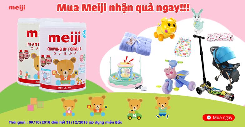 Khuyến mại sữa Meiji miền bắc