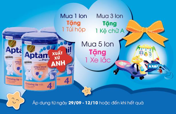 Nhận ngay quà tặng khi mua sữa Aptamil Anh