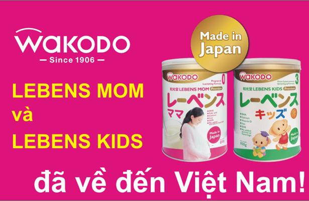 Nhận quà tặng giá trị khi mua sữa Wakodo Lebens Mom và Lebens Kids
