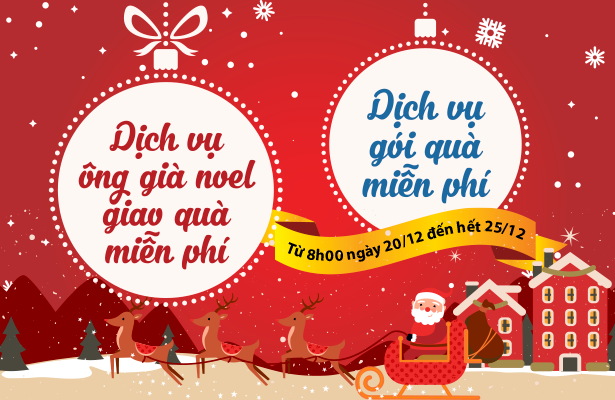 Ông già Noel Shop Trẻ Thơ sẽ Giao Quà Miễn Phí dịp Giáng Sinh
