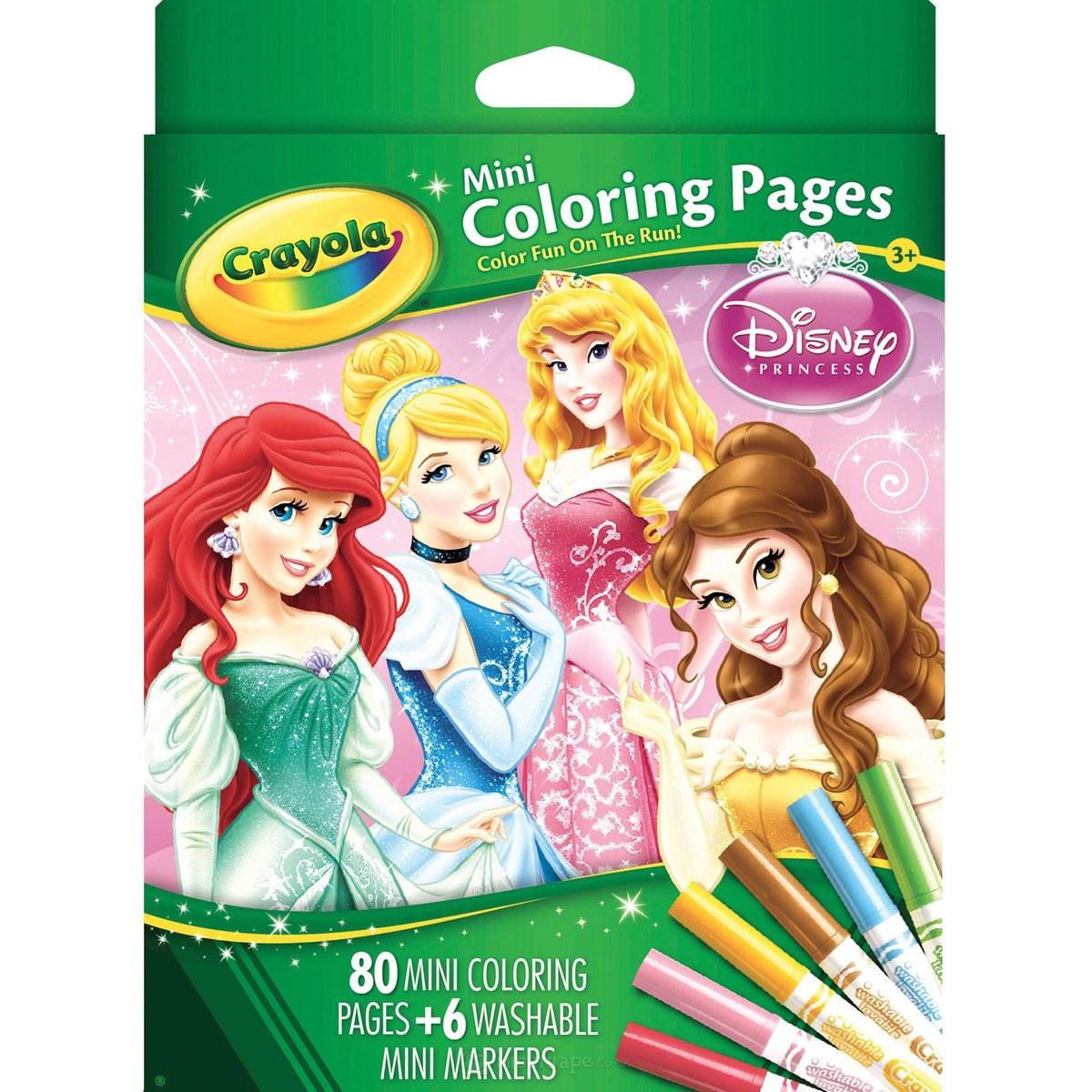 Bo but giay to mau Crayola hinh cong chua Disney