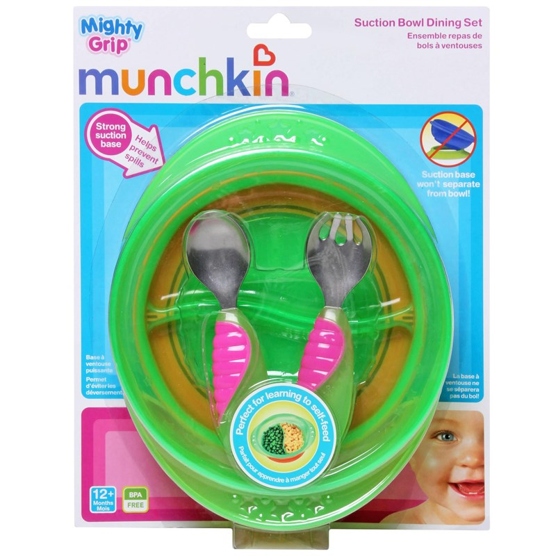 Bo do an chong do Munchkin Suction Bowl Dining Set
