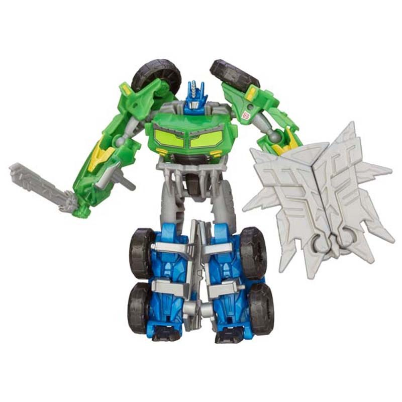 Do choi Transformer - Robot bien hinh Optimus Prime Commander mau xanh