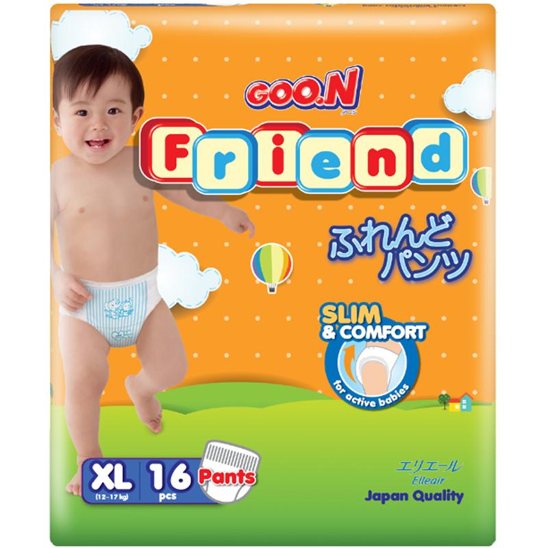 Tã - bỉm quần Goon Friend XL16 (12-17kg)
