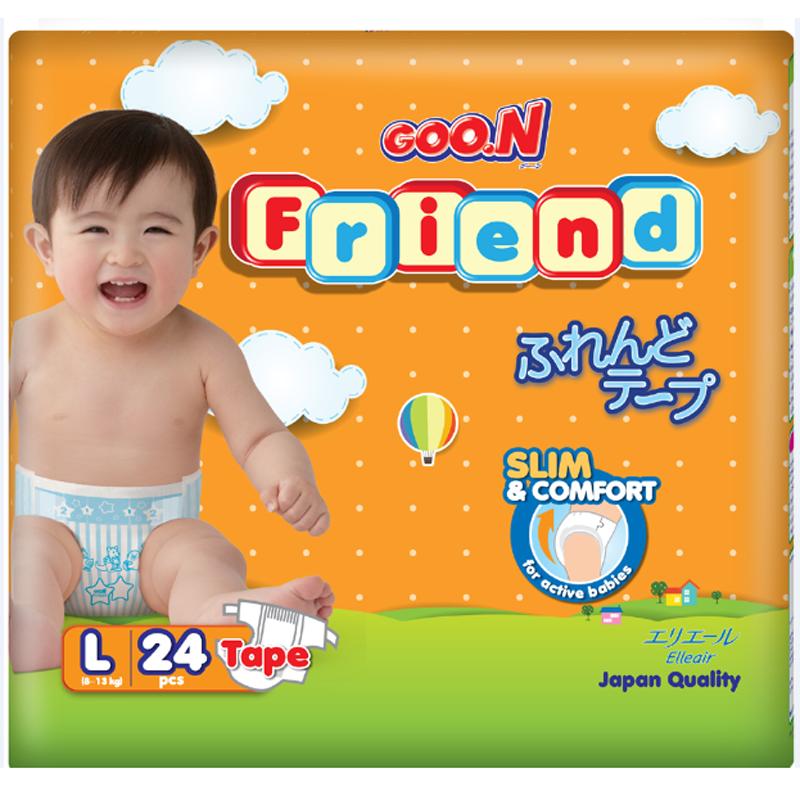 Tã - bỉm dán Goon Friend L24 (8-13kg)