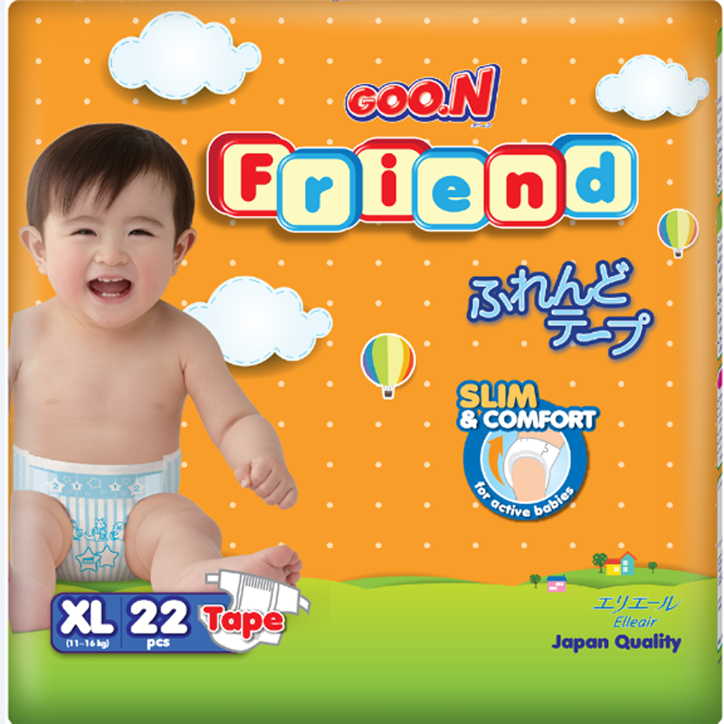 Tã - bỉm dán Goon Friend XL22 (11-16kg)