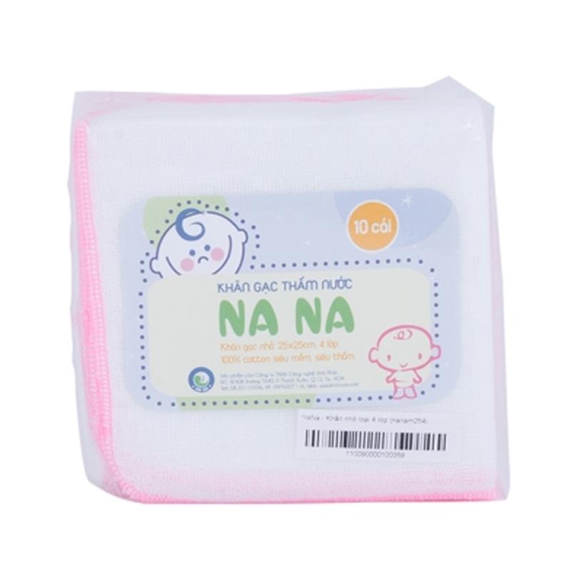 Khăn sữa 4 lớp Nana loại nhỏ cho bé