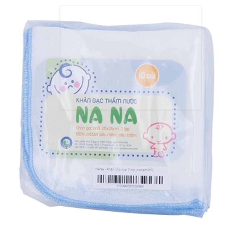 Khăn sữa sơ sinh Nana 3 lớp (25 x 25cm)