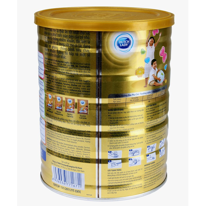 Sua bot Dutch Lady 123 gold (1.5kg)