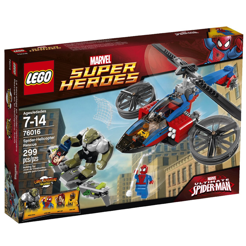 Đồ chơi Lego Super Heroes 76016 Spider - Helicopter Rescue