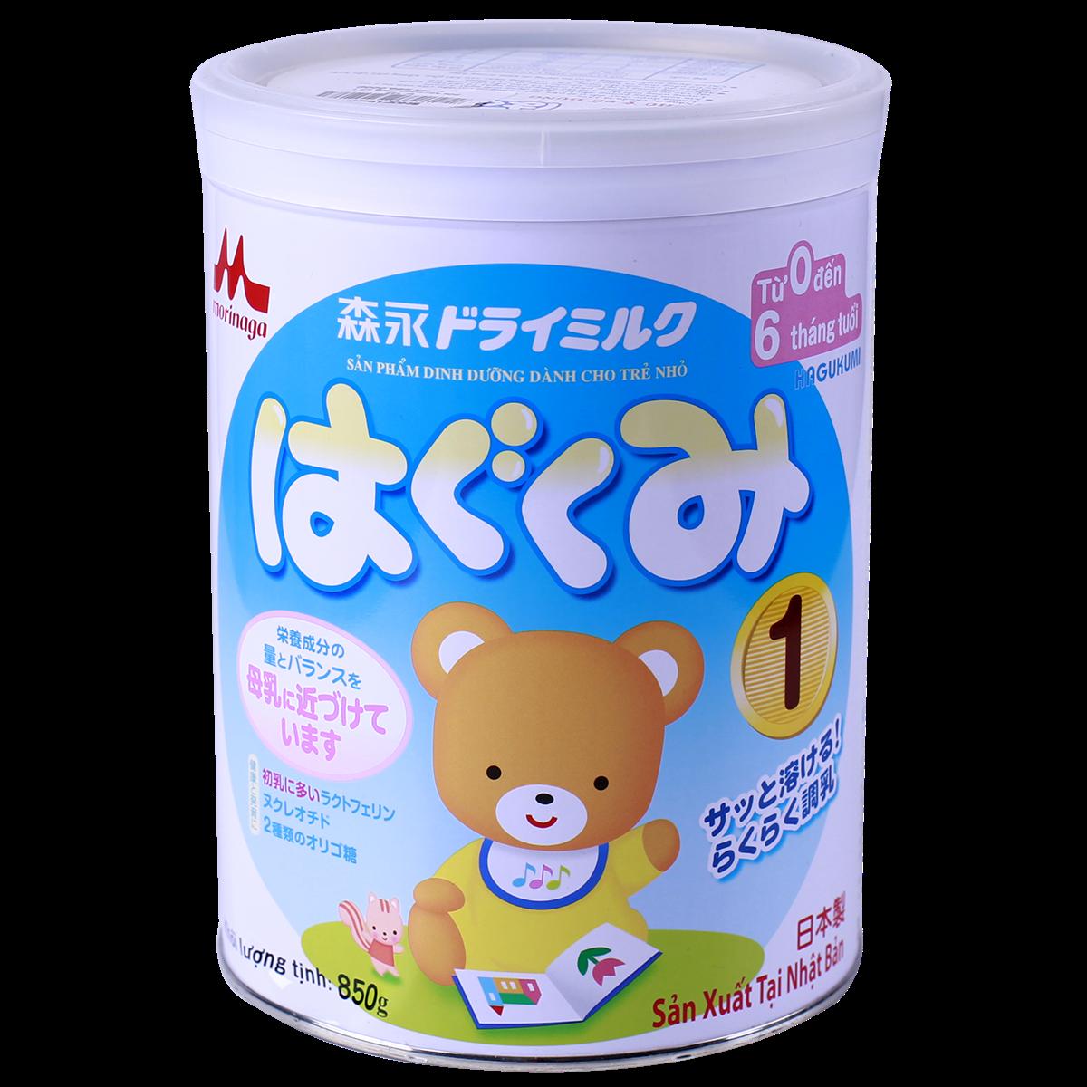 Sữa bột Morinaga số 1 - 850g (0-6 tháng)
