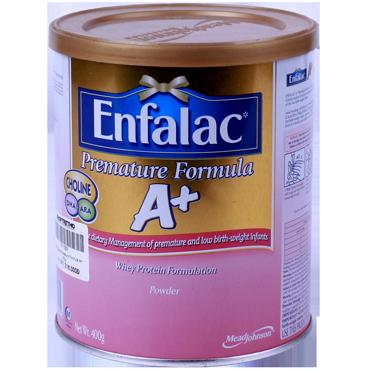 Sữa Enfalac Premature Formula A+ 400g