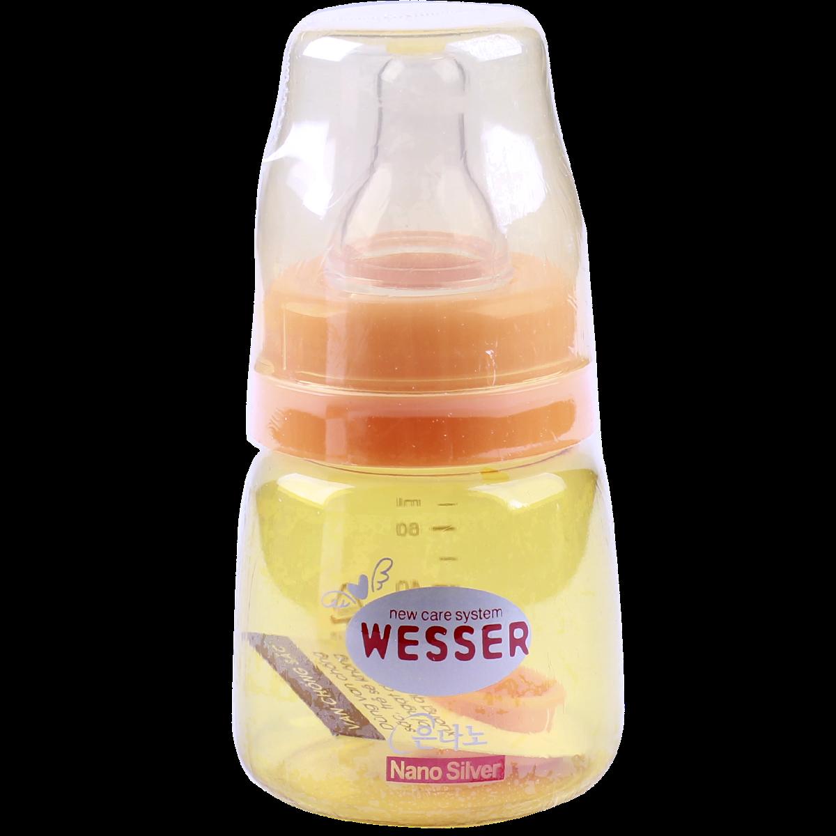 Bình sữa Nano Silver Wesser 60ml (cổ hẹp)
