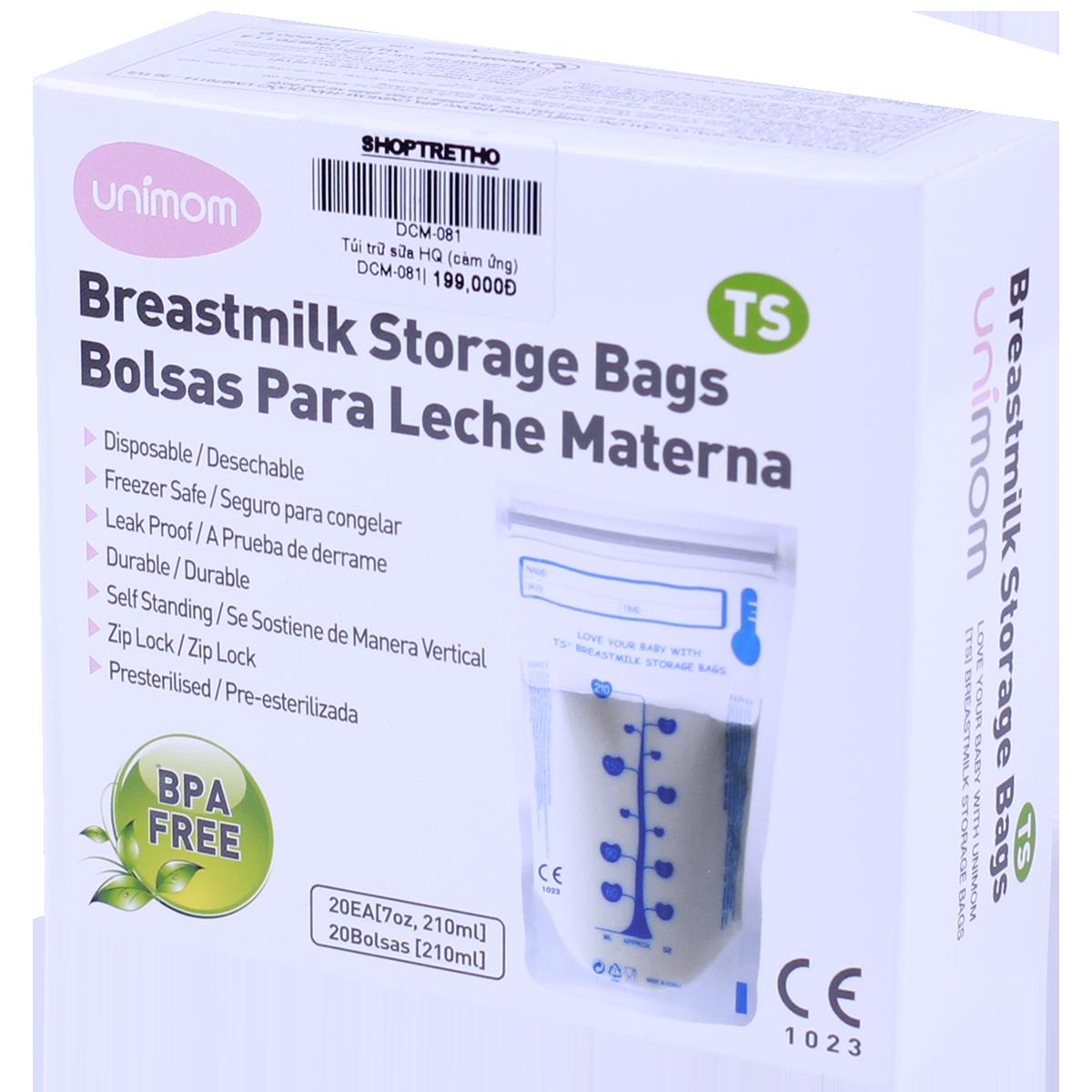 Túi trữ sữa mẹ cảm ứng nhiệt Blue Egg free BPA