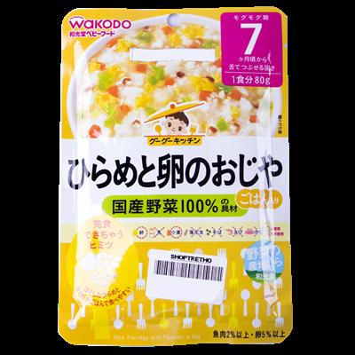 Cháo gạo với cá bơn và trứng Wakodo IE1 (7M+)
