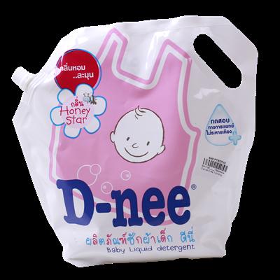 Dung dịch giặt xả Dnee 1.8l (túi hồng)