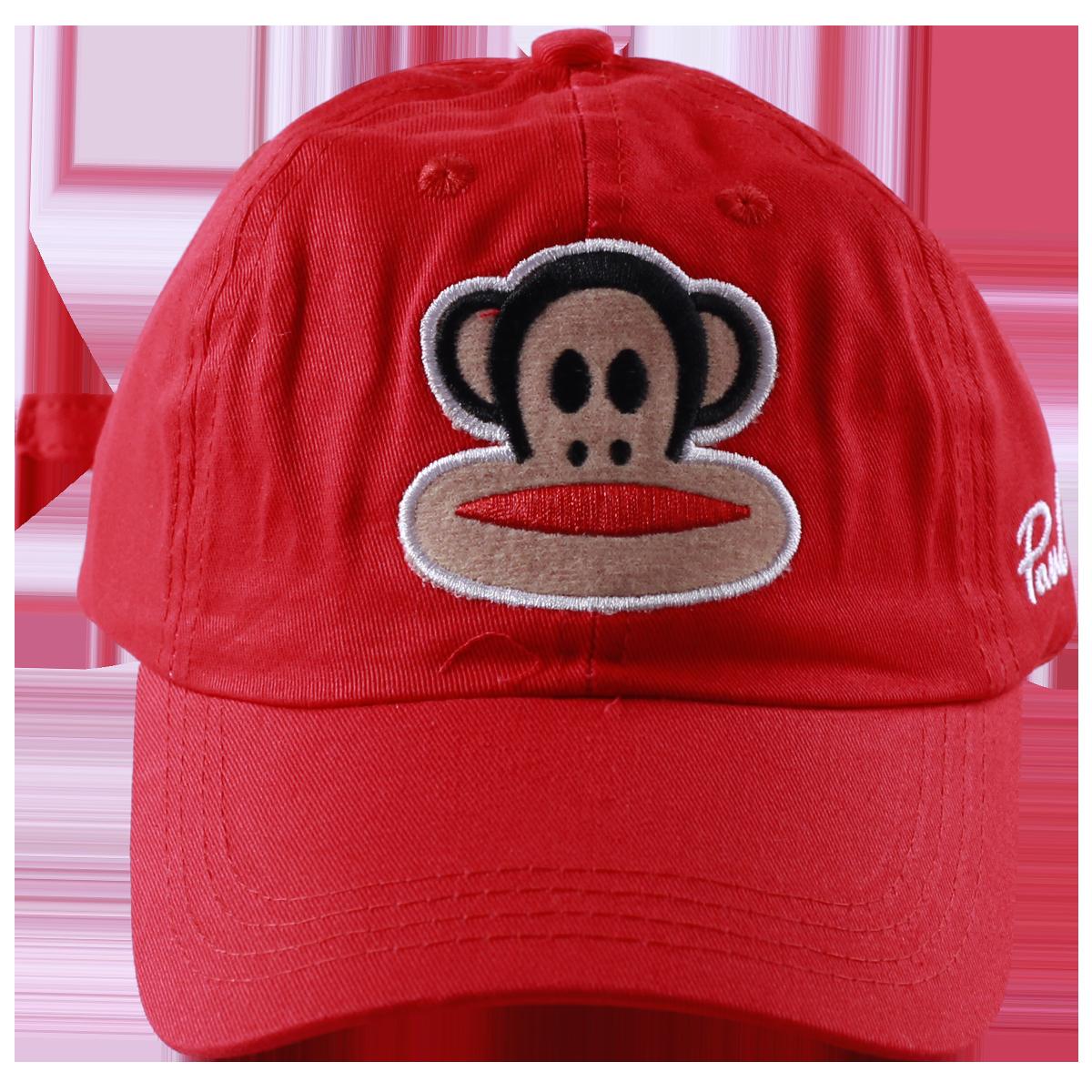 Mũ lưỡi trai hình chú khỉ màu đỏ