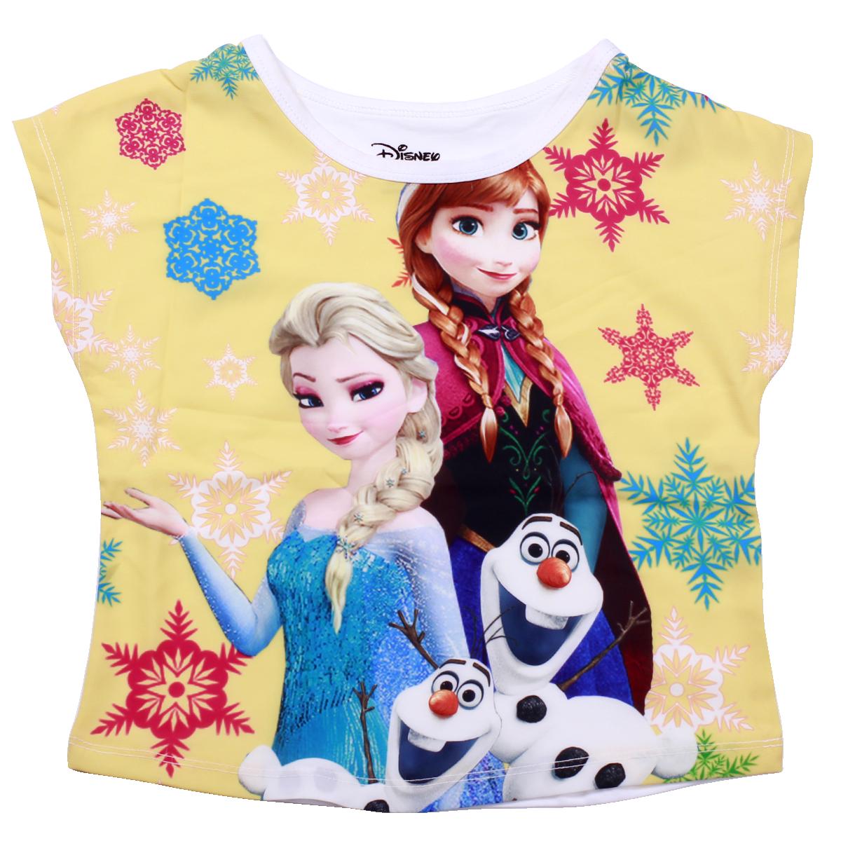 Áo bé gái in 3D Frozen màu vàng