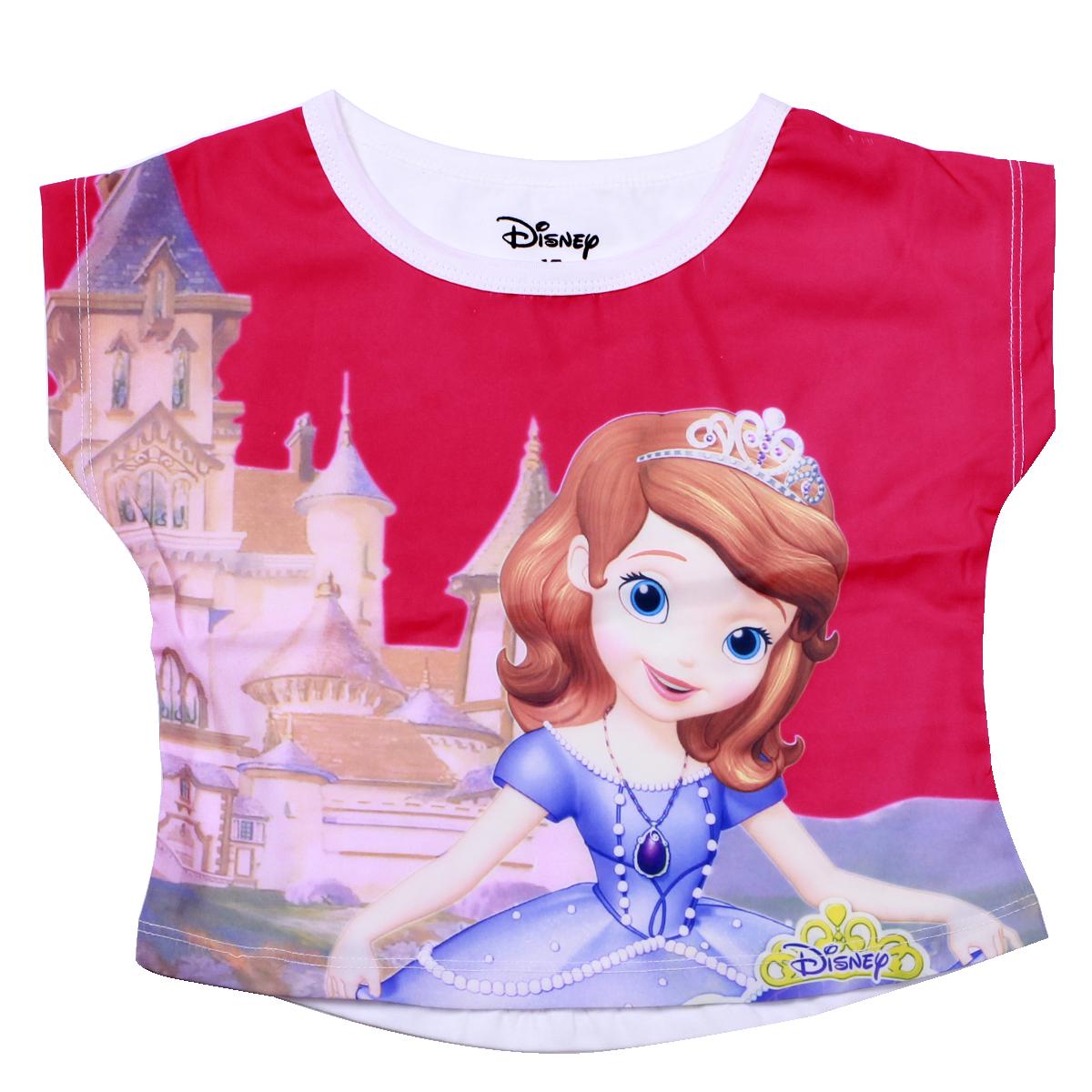 Áo bé gái in 3D công chúa màu hồng