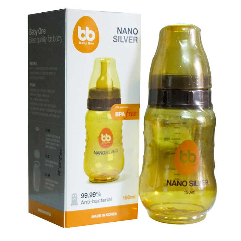 Binh sua Nano Silver Baby One 150ml (co hep)
