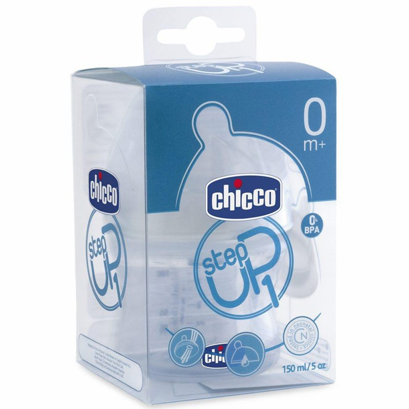 Binh sua Chicco Step Up 150ml 0M+ dong chay thuong