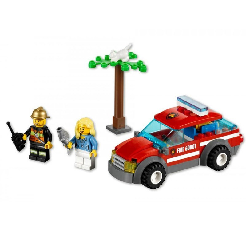 Do choi LEGO City 60001 xep hinh Fire Chirf Car