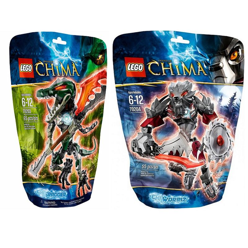 Combo Lego Chima 70203 Chi Cragger  + 70204 Chi Worriz