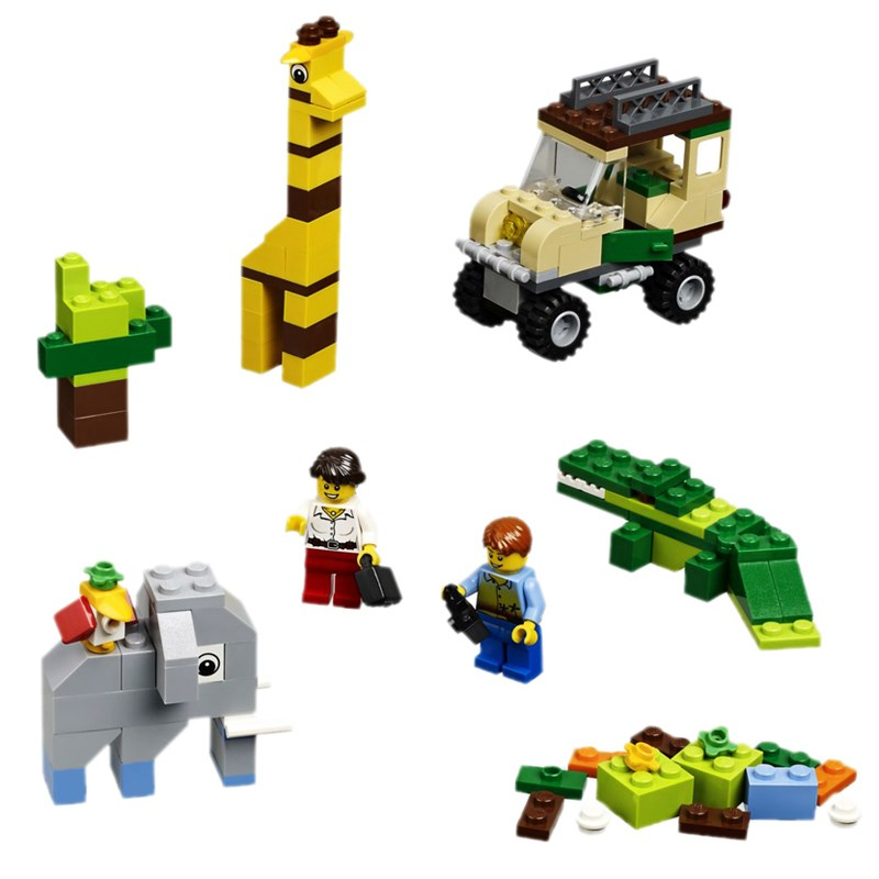 Do choi LEGO City 4637 xep hinh Safari Building Set