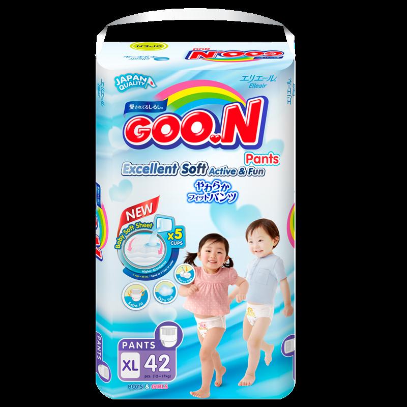 Tã - Bỉm quần GOO.N Slim XL42 ( cho bé 12-17kg)