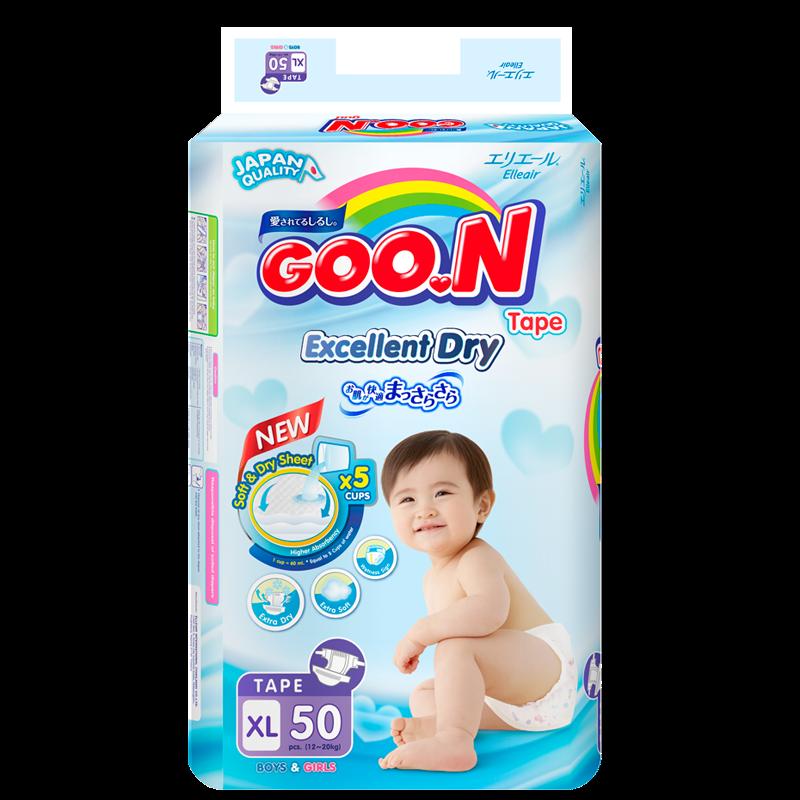 Tã - bỉm dán GOO.N Slim XL50 (cho bé từ 12 - 20kg)
