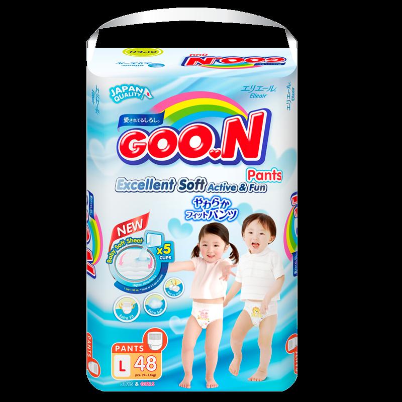 Tã - Bỉm quần GOO.N Slim L48 ( cho bé 9-14kg)