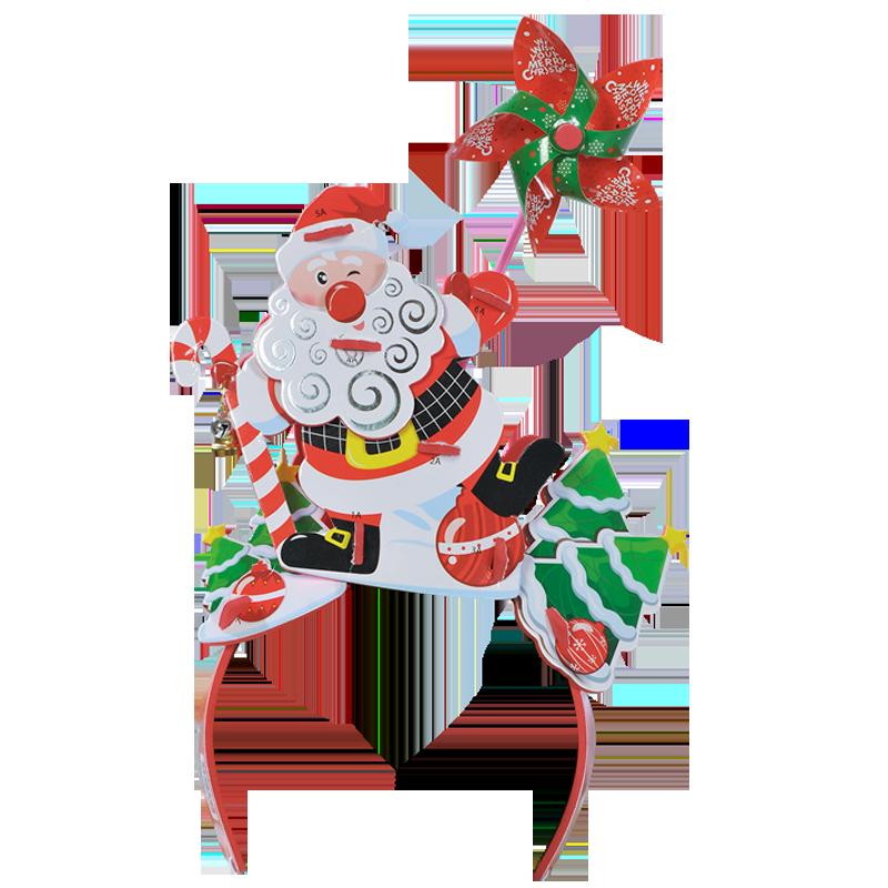 Băng đô 3D chong chóng Kibu - Ông già Noel