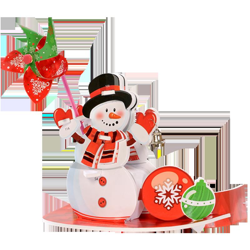 Nón 3D chong chóng Giáng Sinh Kibu - Người Tuyết