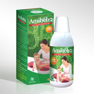 Nước tắm trẻ em Amibebe 250ml (100% thiên nhiên)