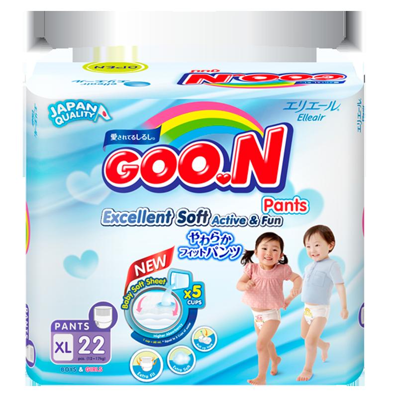 Tã - Bỉm quần GOO.N Slim XL22 (cho bé 12-17kg)