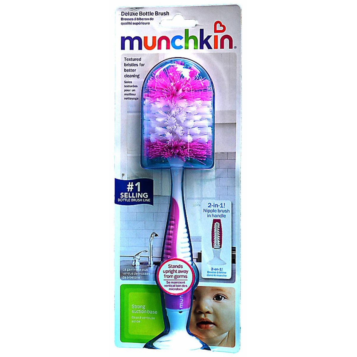 Choi co binh deluxe Deluxe Bottle Brush - Munchkin - 11601