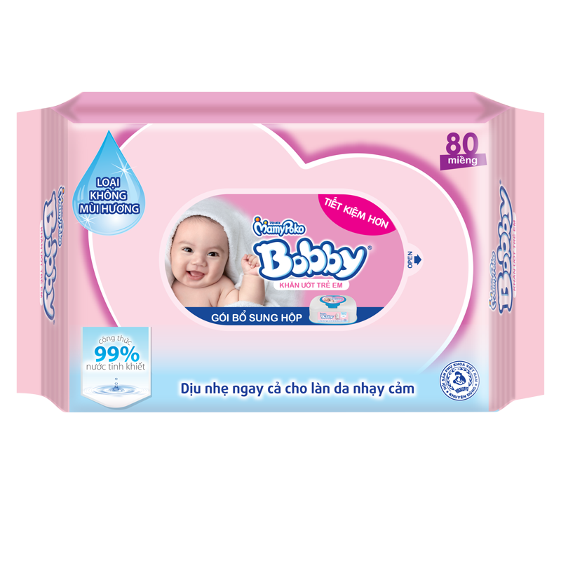 Giấy ướt Bobby (gói bổ sung)