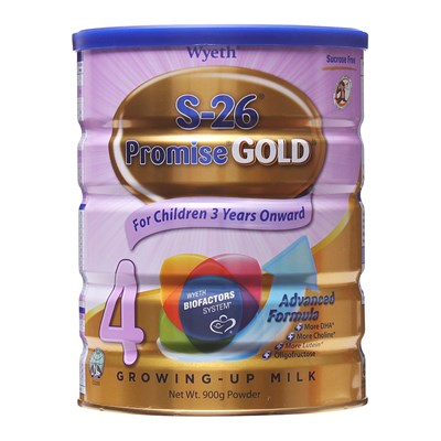 Sữa S-26 Promise Gold số 4 900g (Singapore)