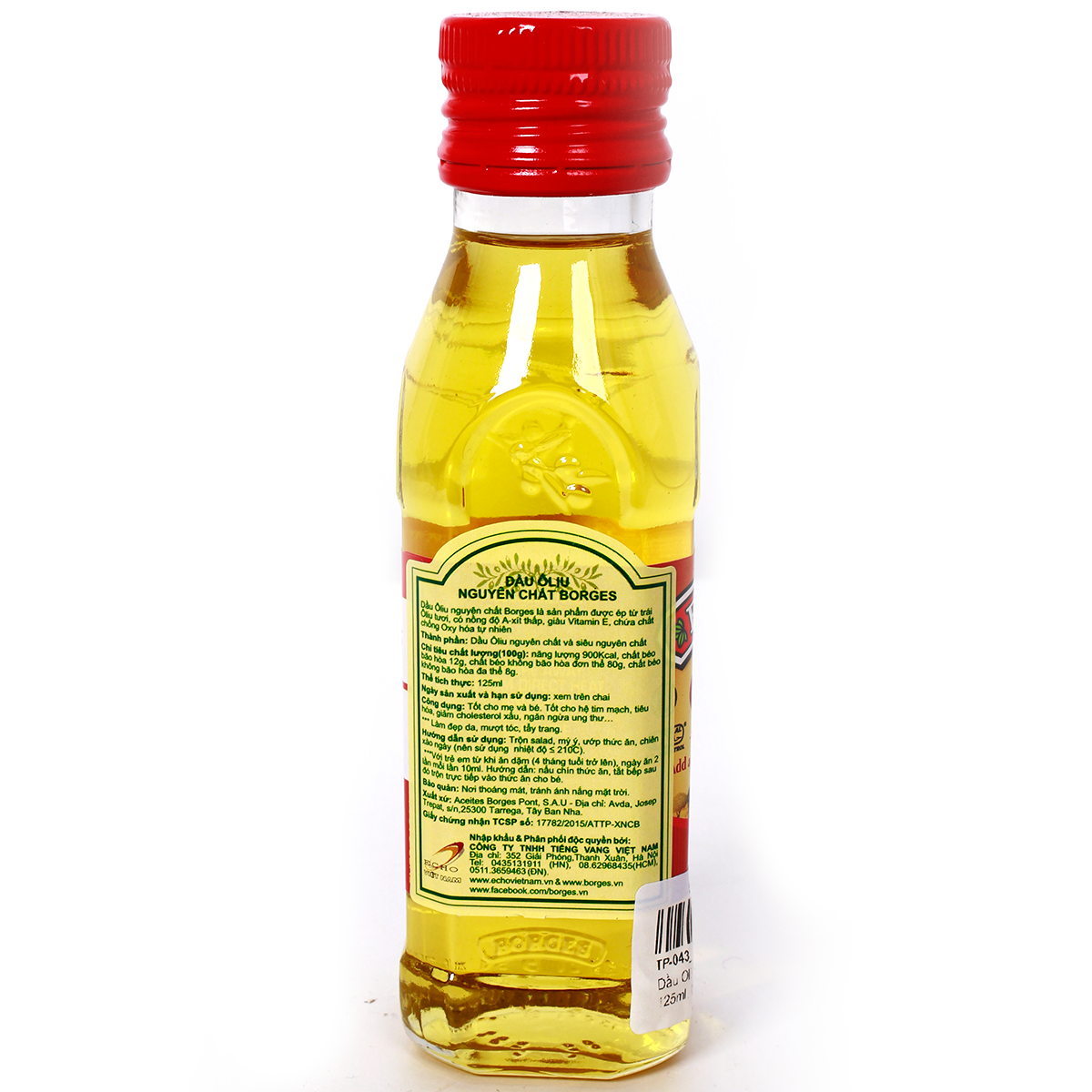Dau oliu Borges nguyen chat 125ml