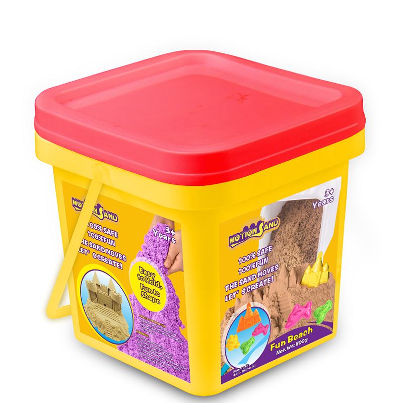 Bộ chơi cát Motion Sand - Lâu đài và động vật biển (hộp nhựa)