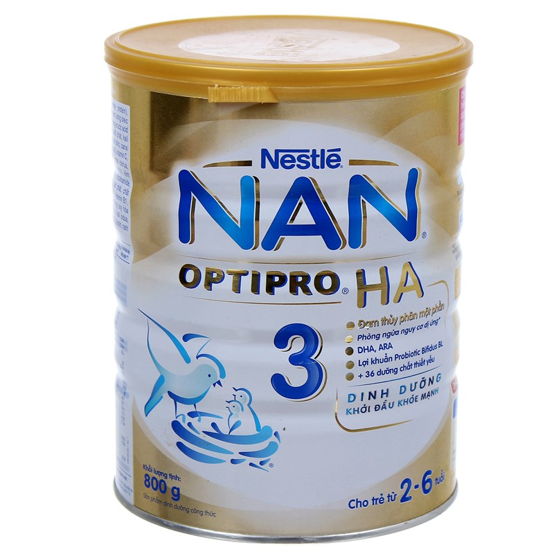 Sua Nan Optipro HA so 3 800g (2-6 tuoi)