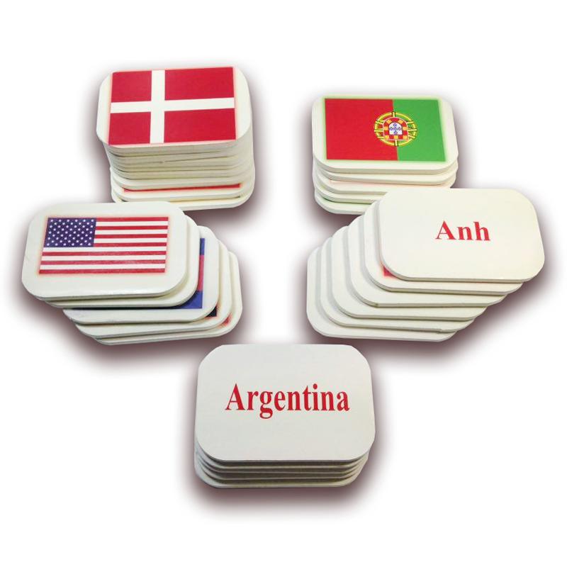 Flash Card siêu bền - Bộ cờ các nước